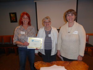 Barbara Brown 2016 Contest Winner with Carolyn Rinehart and Diane Walters