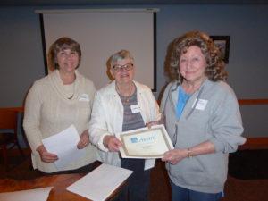 Bonnye Matthews 2016 Contest Winner with Carolyn Rinehart and Diane Walters
