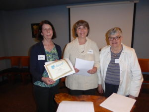 Judy Griffin 2016 Contest Winner with Diane Walters and Carolyn Rinehart