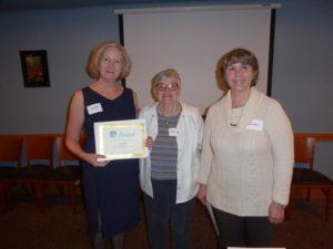Mary Katzke 2016 Contest Winner with Diane Walters and Carolyn Rinehart