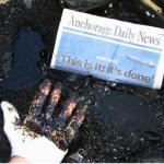 Anchorage Daily News Spill Headline