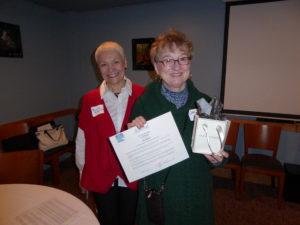 Jan Ingram, 2016 Gold Nugget recipient, with Sherrie Simmonds, APC Alaska President