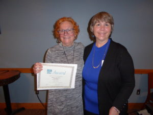 Rebecca Goodrich (l) with Diane Walters