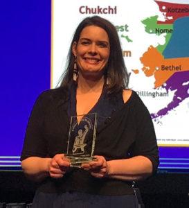 Photo of Leona Long with Award